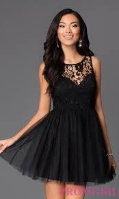 klshort black dresses lace budget fit and flare dress promgirl