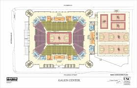 galen center floor plan sport complex pinterest