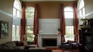 window designs for living room double window treatment ideas