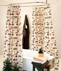 Cabin Shower Curtains Shower Curtains