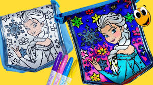 disney frozen color me mine bag fashion purse activity coloring
