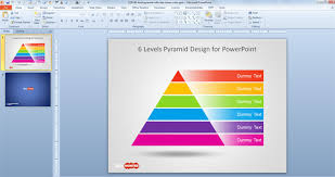 free 6 level pyramid template for powerpoint free powerpoint