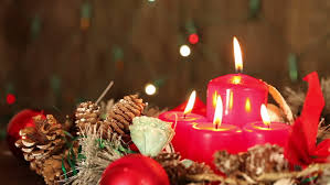 christmas candles christmas and new year decoration with a lit