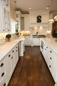 kitchen dazzling white shaker kitchen cabinets dark wood floors