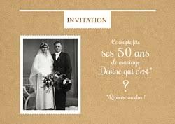 texte anniversaire de mariage 50 ans modèles d invitation anniversaire de mariage popcarte