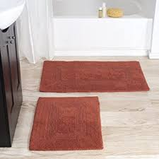 Cotton Bath Rugs Reversible Amazon Com Cotton Bath Mat Set 2 Piece 100 Percent Cotton Mats