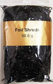 foil shreds foil metallic shreds 56 6grams glossy black