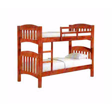 natural wood single with single double decker bed lazada singapore