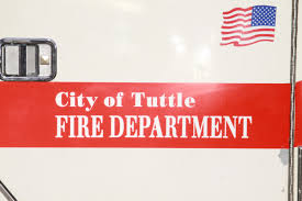 Firefighter Job Outlook Tuttle Firefighter Hit In Car Wreck Suffers Extensive Damage