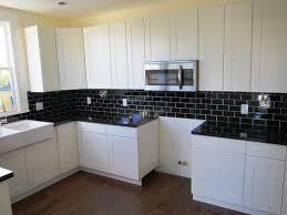 backsplash for a white kitchen subway tile black and white kitchen backsplash