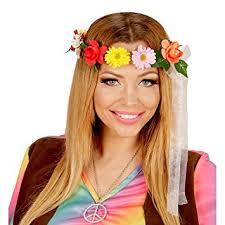 hippie hair bands headband flowers hippie style headdress multicolour floral