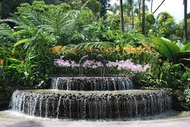 garcia rock and water design a very tropical garden waterfall