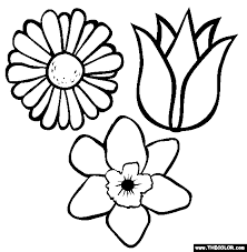 easter flower coloring pages coloring