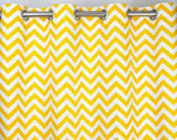 Yellow White Chevron Curtains Chevron Curtains Etsy