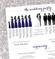 winter wedding programs winter wedding program bridal party silhouettes digital