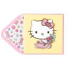hello kitty with flowers mother u0027s day card