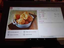 tablette de cuisine qooq mes recettes de cuisine avec la tablette qooq