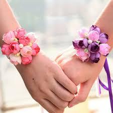bridesmaid corsage 1 pcs wrist corsage bridesmaid flowers