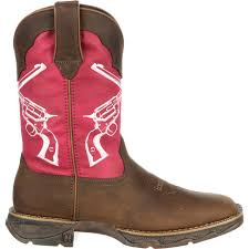 ariat womens cowboy boots size 12 rebel by durango crossed guns pink brown boot