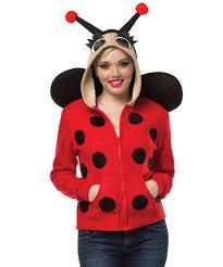 lady bug hooded sweatshirt