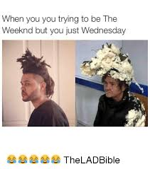 The Weeknd Memes - when you you trying to be the weeknd but you just wednesday