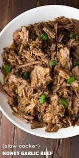 slow cooker honey garlic beef recipe cooker recipes cooker