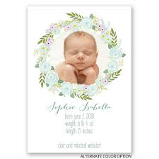 Birth Ceremony Invitation Card Floral Halo Birth Announcement Invitations By Dawn