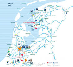 Holland Map Boating Holidays Holland Canal Boat Hire Holland Le Boat