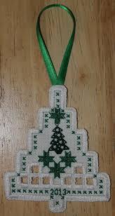 hardanger christmas tree ornament vyšívanie hardanger
