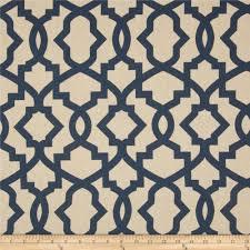 navy blue beige linen sheffield trellis curtains rod pocket