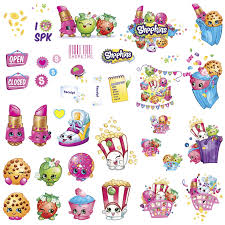 roommates rmk3154scs shopkins peel and stick wall decals roommates rmk3154scs shopkins peel and stick wall decals amazon com