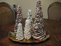 paper xmas tree craft
