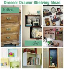 table with drawers and shelves upcycle dresser drawers as hanging shelves 10 ideas diy for life