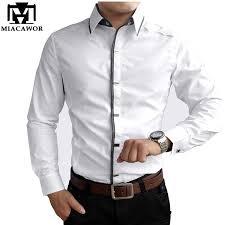 new 2017 autumn cotton dress shirts high quality mens