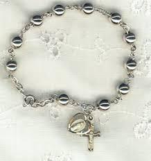 bracelet rosary silver 6mm rosary bracelet