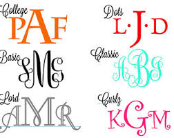 monogram initials wall monogram sticker vinyl decal personalized monogrammed