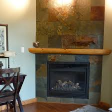 craftsman fireplace with slate tile great way to simply update a