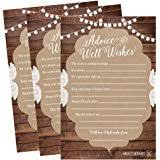 Advice For Bride And Groom Cards Amazon Com 50 4x6 Kraft Rustic Wedding Advice U0026 Well Wishes For