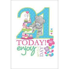 21st birthday me to you bear cards ebay