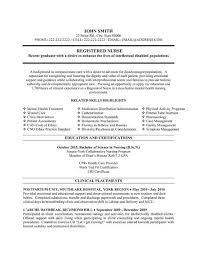 Graduate Nurse Resume Example by Download Nurse Resume Samples Haadyaooverbayresort Com