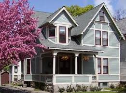 exterior house color schemes gray similar to celtic blue with