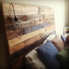 Pallet Wood Headboard 40 Recycled Diy Pallet Headboard Ideas