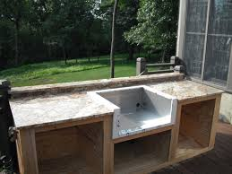 outdoor kitchen sinks ideas build your own outdoor kitchen with concrete