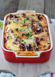 egg strata casserole chiles rellenos breakfast strata with optional chorizo kitchen treaty
