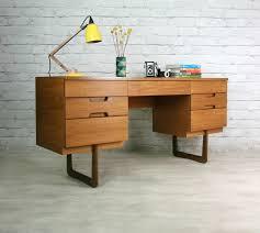 Mid Century Desk Uniflex Retro Vintage Teak Mid Century Desk Dressing Table 50s 60s