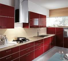 lively red new 2011 kitchen color from scavolini