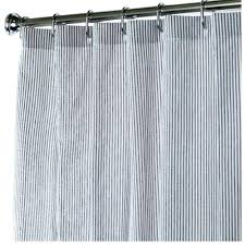 Teal Ruffle Shower Curtain by Coffee Tables Black Ticking Shower Curtain Ticking Stripe