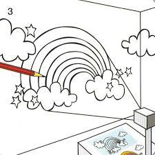 comment dessiner sur un mur de chambre chambre ado déco un mur en arc en ciel