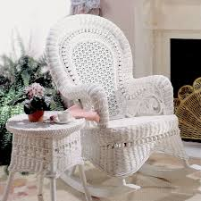 Resin Wicker Rocking Chair White Wicker Patio Furniture Chairs And Table Perfect White
