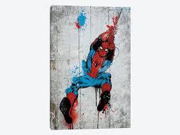 paint man marvel comic book spider man spray paint canv marvel comics